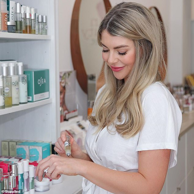 As a makeup artist and self-confessed beauty junkie Erin loved 'luxurious and high performance beauty shopping' and was 'sick' of doing all of her shopping in a health food store