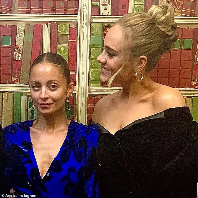 Glamor: Adele gave fans a rare glimpse of her close friendship with Nicole Richie on Saturday, when she dedicated a heartfelt late birthday message to the star