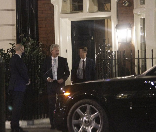 Partygoers were photographed leaving the Mayfair joint - where membership reportedly costs in the region of £2,000 a year - after 10.25pm last night