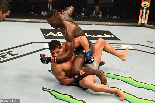 But it was as one-sided as it gets with Adesanya finishing his middleweight rival in the second