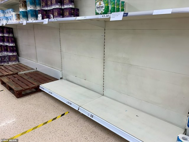 Tesco: Tesco supermarkets, including this one in Ely, have started rationing toilet roll