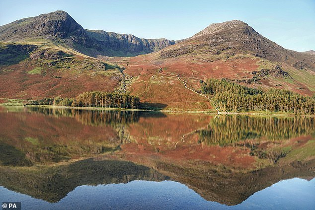 The spokesman added: 'His property is several kilometres away from our nearest usable network, which means significant civil engineering, build and cabling work is needed to provide a connection.' Pictured: Lake District