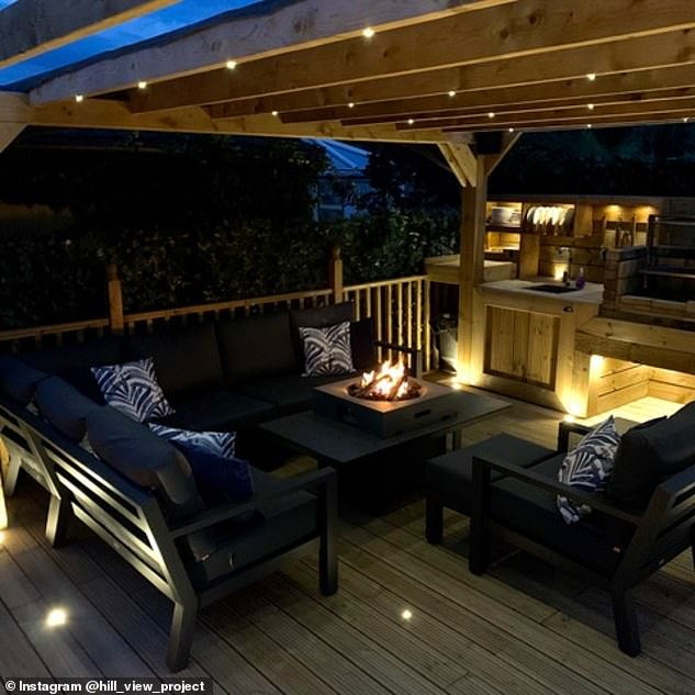 Design help: Matthew designed the deck, pergola and BBQ himself using free trials of software he found online