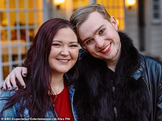 In the BBC documentary, each of the siblings airs their own story and some reveal they were not even aware they were conceived via a sperm donor. Pictured: Oli with McKenzie, one of his half-sisters