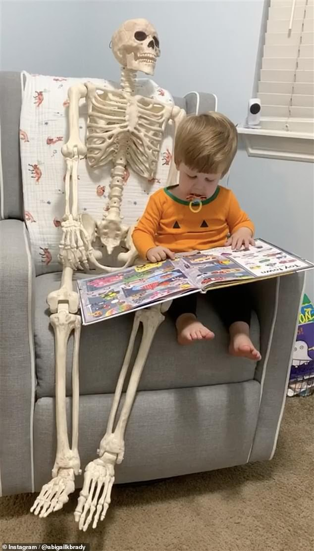 According to Brady, the friendship began on September 15 when she was moving things around in the basement after it flooded. Theo discovered the skeleton and it has been his pal ever since