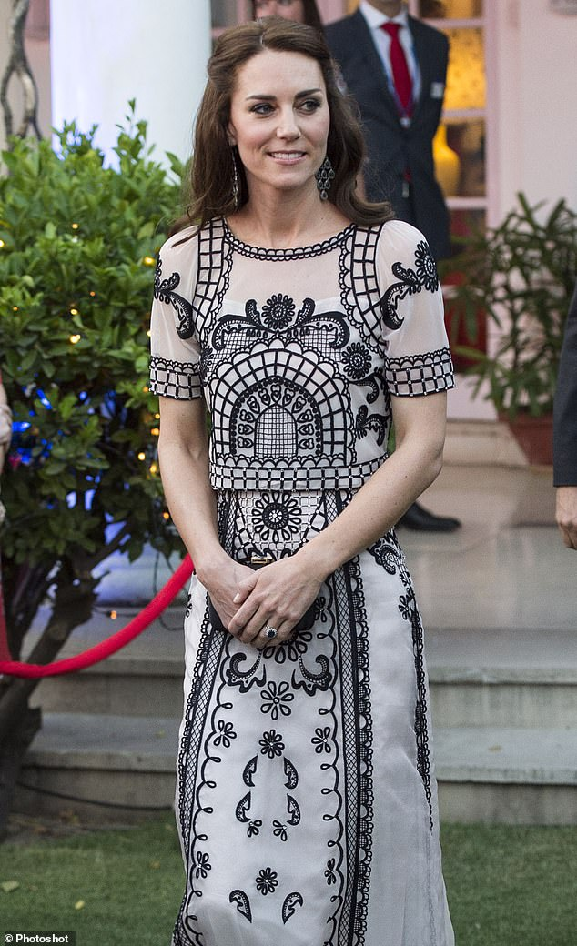Her dazzling, distinctive creations have made her the favourite dress designer of the Duchess of Cambridge (pictured)