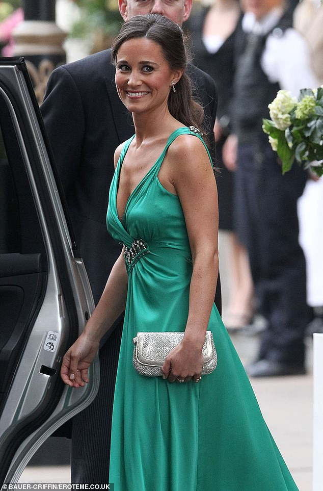 Shefamously designed Pippa Middleton's emerald green gowns for the Duchess of Cambridge's wedding reception in 2011 (pictured)