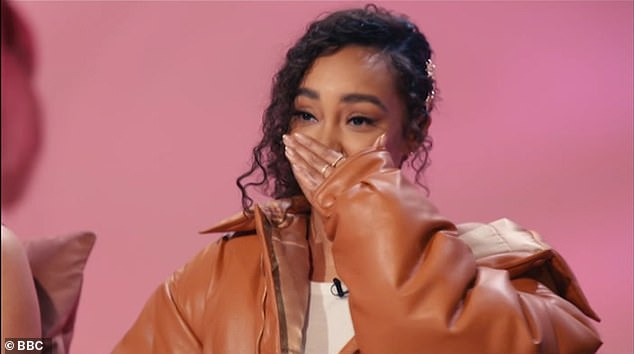 Emotional: Leigh-Anne Pinnock struggled to hold back her tears as she gave heartfelt feedback to contestant Jordan on The Search on Sunday