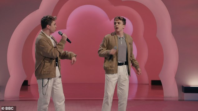 Talent: Twins Billy and Louis also auditions and although getting through stage one, they didn't make the final cut