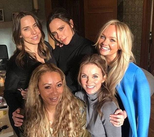 Chart-topping group: Mel C rose to fame with the Spice Girls (pictured L-R: Mel, Victoria Beckham, Emma Bunton, Mel B and Geri Horner in 2018)