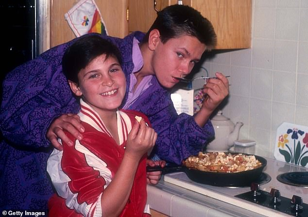 Brotherly love: Joaquin comes from a family of actors, including his late brother River, who tragically died of a drug overdose in October of 1993, at the age of 23 (pictured in 1985)