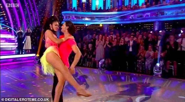 Throwback: Italian dance expert Graziano's last celebrity partner was TV and radio host Vick Hope during the 2018 series (pictured)
