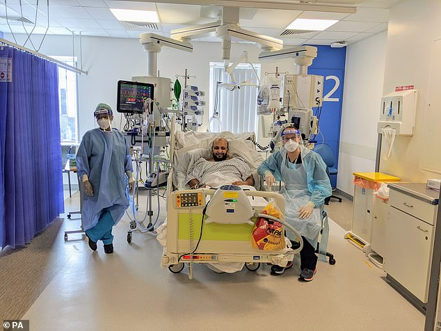 Farhan Hamid, 41,has become the first UK patient to be given an experimental arthritis drug in a clinical trial to treat severe Covid-19 atManchester Royal Infirmary