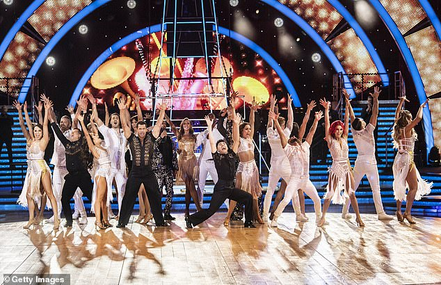Claims:A source said: 'The fee for taking part is around £40,000 and many of the stars are saying it's too small for the risk of being out on the road' (dancers pictured on the 2020 tour)