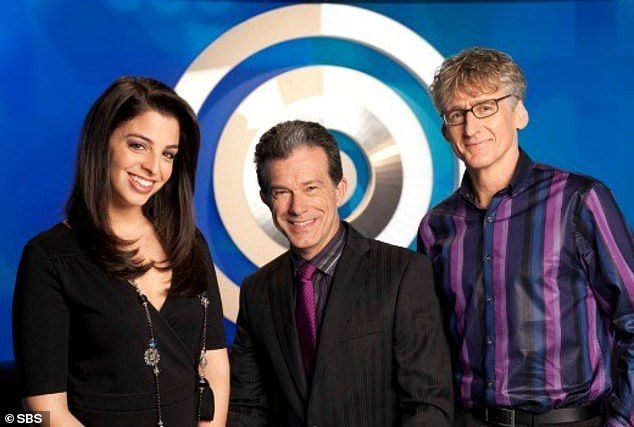 Famous gig: After leaving the ABC in 2002, Richard returned to TV on a part-time basis eight years later to host game show Letters and Numbers on SBS alongside mathematician Lily (left) and dictionary expert David Astle (right)
