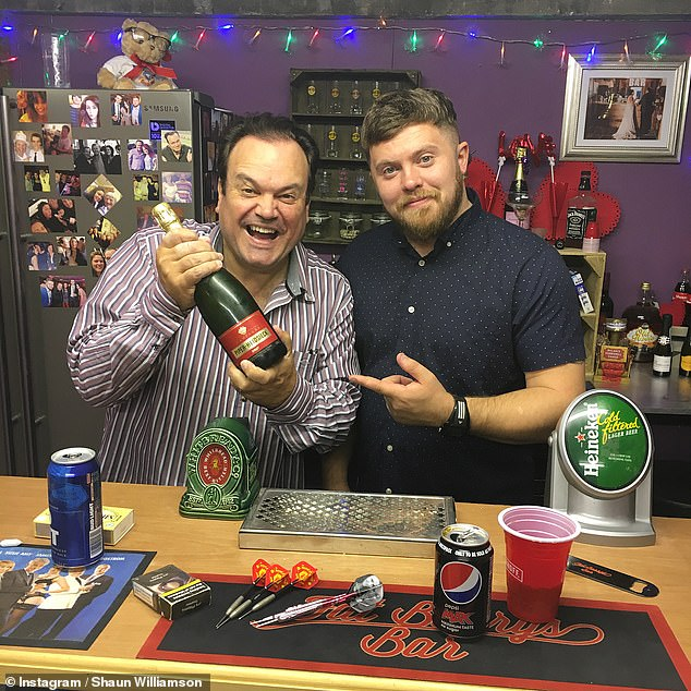 Father and son: Shaun Williamson's secret child has revealed that he was already a huge fan of his dad's before knowing they were related (pictured together in 2018)