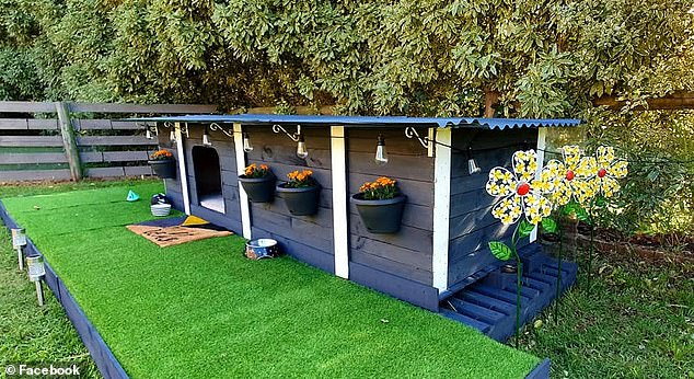 The Australian woman transformed an old timber crate into a miniature property