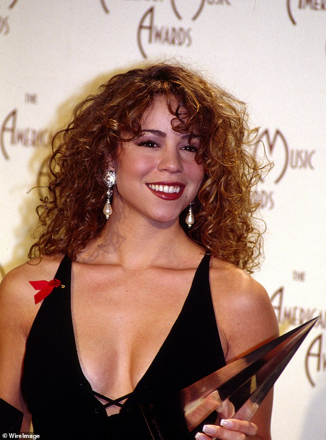 Flashback: Carey was snapped at the 1993 AMAs, which came two years before her foray into grunge with the secret album