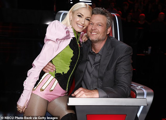 Back to work: She's preparing to join Shelton, as she makes her return next month for season 19 of The Voice, where the first met on the judges panel back in 2014, before they began dating in November of 2019 (pictured in December, 2019)