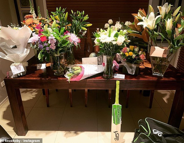 Despite being the target of online trolls, Ms Hamilton has also been inundated with gifts as she and her son mourn their tragic loss (pictured)