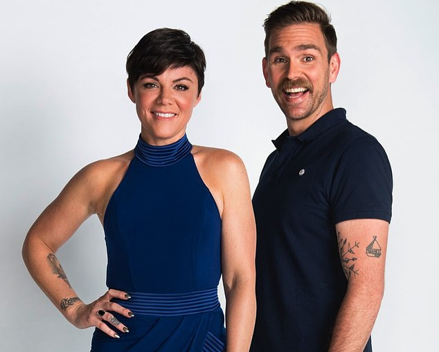 Rivalry: Bruno also revealed the secret feud between former 2Day FM Breakfast show hosts Em Rusciano and Harley Breen (pictured)