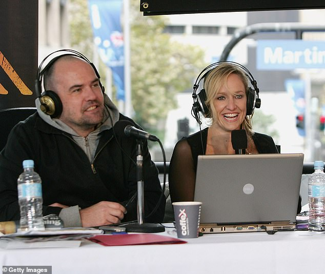 Rivals?Fifi Box (right) and Marty Sheargold (left) also disliked working together as co-hosts of Triple M's The Shebang from 2003 to 2008, Mr Bouchet claimed. Picturedon April 27, 2007