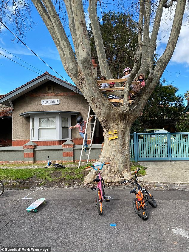 Families have been left devastated after council workers tore down their beloved neighbourhood treehouse