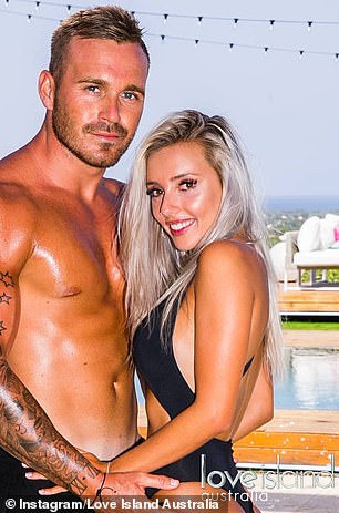 AFTER: Erin later placed runner-up on Love Island Australi's inaugural season in 2018 with Eden Dally