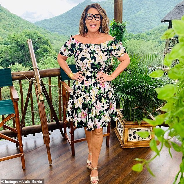 Jungle: Julia (pictured) is best known for her role as co-host of Ten's I'm A Celebrity... Get Me Out Of Here! Australia, alongside Dr Chris Brown