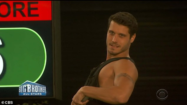 Household head:Cody Calafiore after winning the Head of Household competition nominated Kevin Campbell and David Alexander for eviction on Sunday's episode of Big Brother: All-Stars