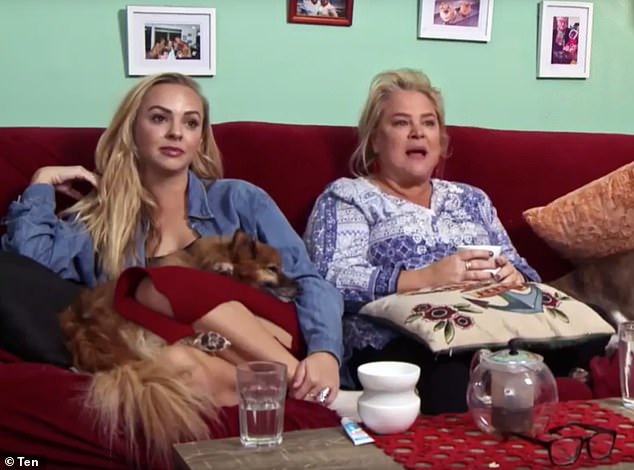 'Who's Jad?' Despite spending two years as co-stars on Gogglebox, Angie Kent (left) appeared to have no idea who Jad Nehmetallah was when asked about him in Sydney earlier this month. Pictured with Yvie Jones (right)
