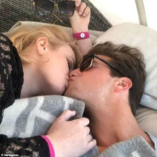 Sealed with a kiss: Just days after going public with their relationship, Rebel Wilson shared a series of loved-up photos with her new boyfriend, multi-millionaire Jacob Busch