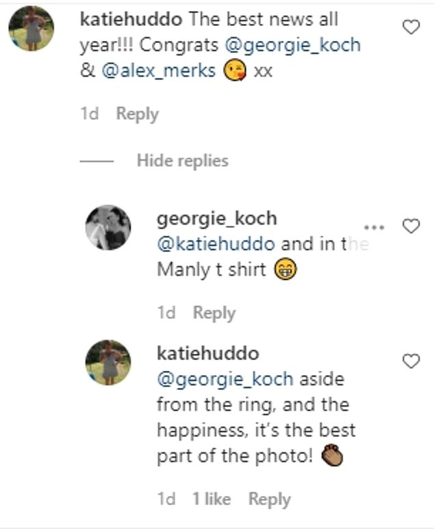 Excited: The father-of-four and grandfather-to-six - nicknamed Kochie - shared the couple's happy news with his fans on Instagram