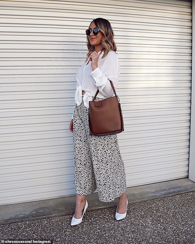Brisbane stylist Sarah, who posts on Instagram as 'She's So Seasonal', prefers this long-sleeved style made from linen and viscose which costs $20