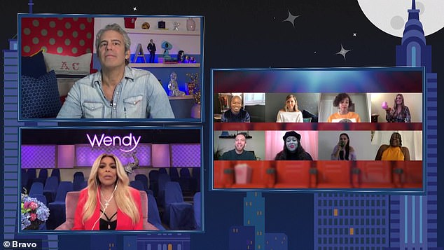 Virtual audience: Andy and Wendy were joined by virtual audience members on the Bravo show