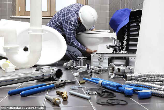 A Victorian plumber who left another man wheelchair-bound after passing out from drug-induced fatigue while driving a truck has been jailed (stock image of a plumber)