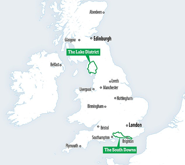 The area's size would be equivalent to the South Downs and Lake District combine