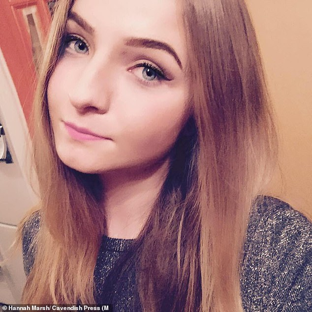 In a statement, college student Hannah (pictured) said she had been left with 'emotional trauma and serious anxiety which overwhelmed her doing day to day activities'