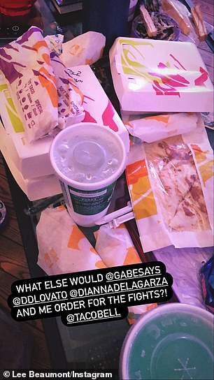 'What else would @gabesays @ddlovato @diannadelagarza and me order to for the fights @tacobell?'