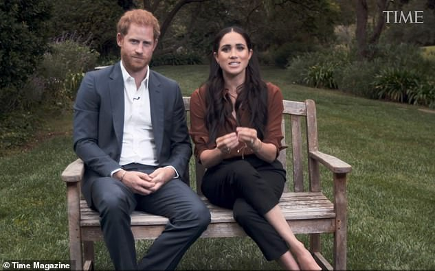 The Duke and Duchess of Sussex talk about voting in the US election during a TV appearance to mark Time magazine's 100 most influential people roll call last week