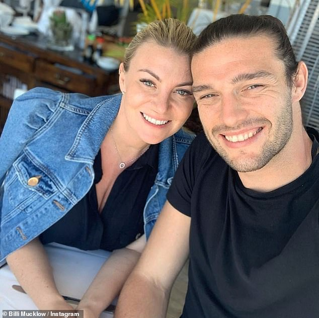 New arrival: The former TOWIE star, 32, welcomed the newest addition to her family on 15 September with her fiancé Andy Carroll