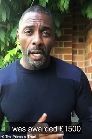 Idris Elba has joined a group of celebrities and creatives in a video to thank the Prince's Trust in a new video released by the charity today to celebrate helping one million young people