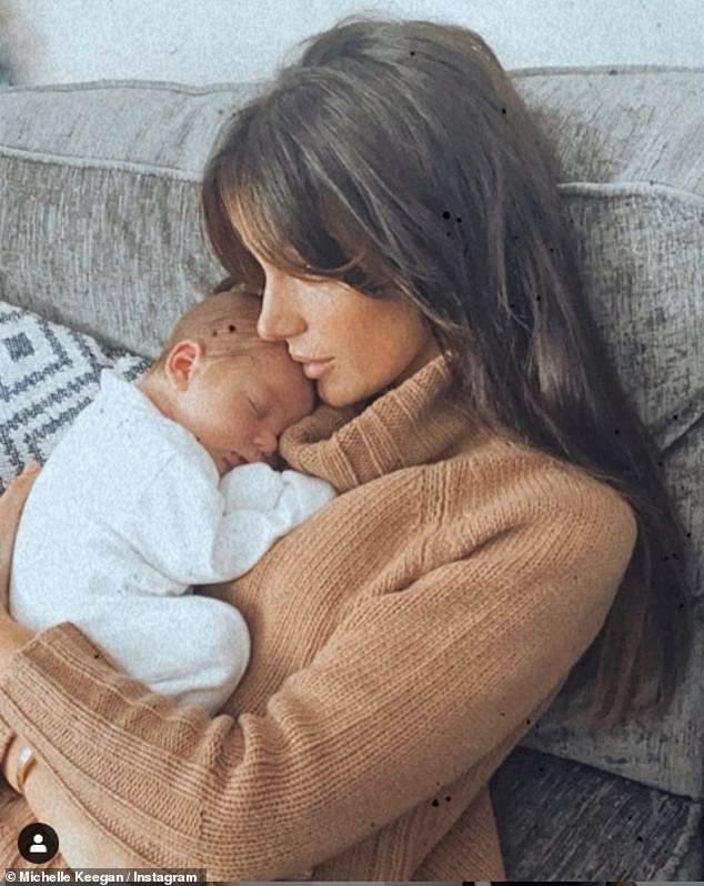 So sweet: In September, actress Brassic, 33, went to visit her cousin Kate who recently welcomed a baby boy named Brody