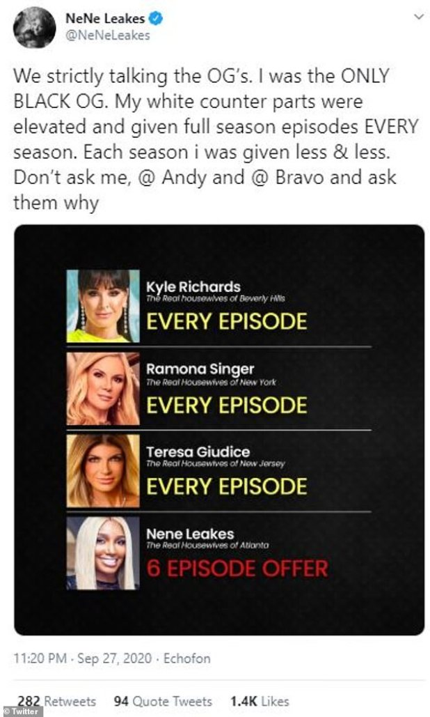 Ask them: Leek questions why she wasn't offered the same episodes as her white counterparts