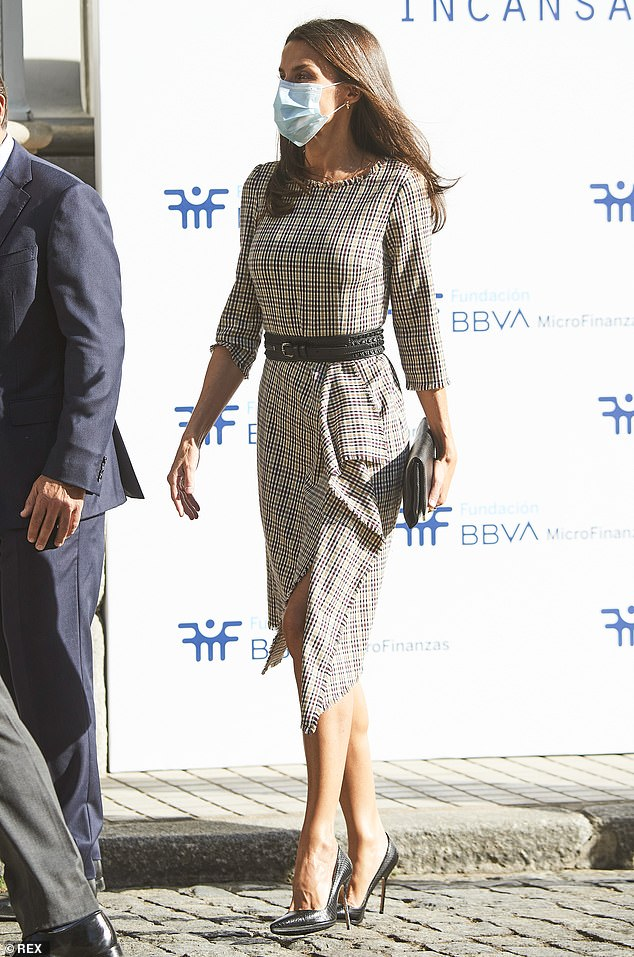Queen Letizia was told about the non-profit organisations projects for their ongoing fight against poverty