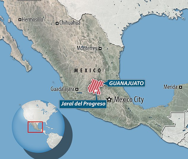 The killing took place near the town ofJaral del Progreso in central Mexico