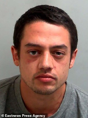 Jackson (pictured) appeared in Basildon Crown Court last year, where he was jailed for three years and nine months for eight counts of administering a noxious substance with intent to injury, aggrieve or annoy