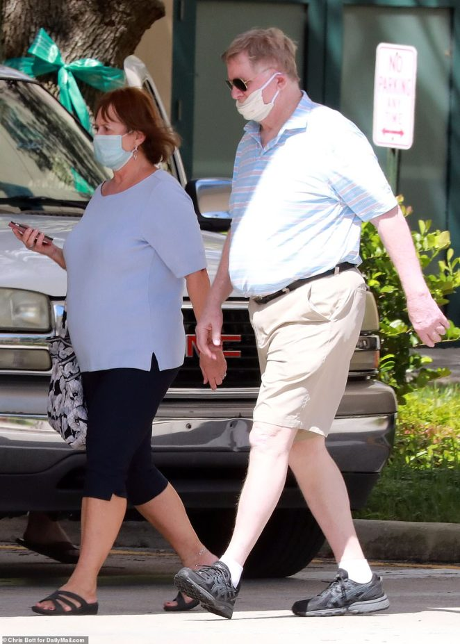 Parscale's parents Dwight and Rita Parscale attempt to make an emergency visit with their son on Monday afternoon