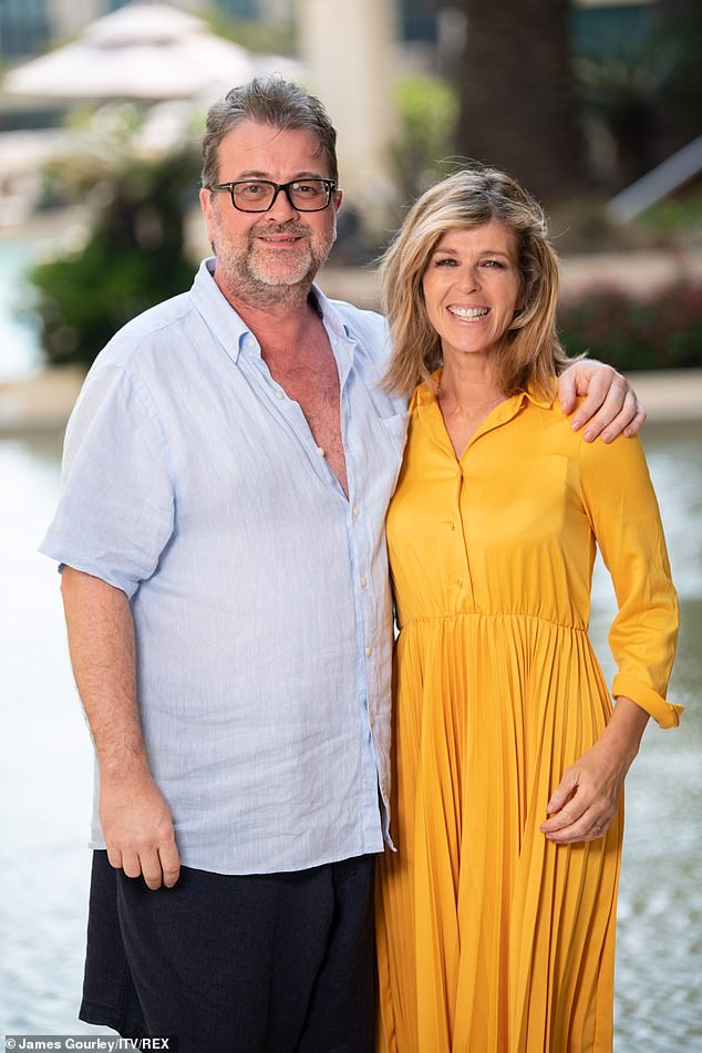 Fighting it: Kate Garraway's husband Derek's six-month battle with coronavirus 'becomes the longest in the UK', it was claimed on Monday (pictured December 2019)