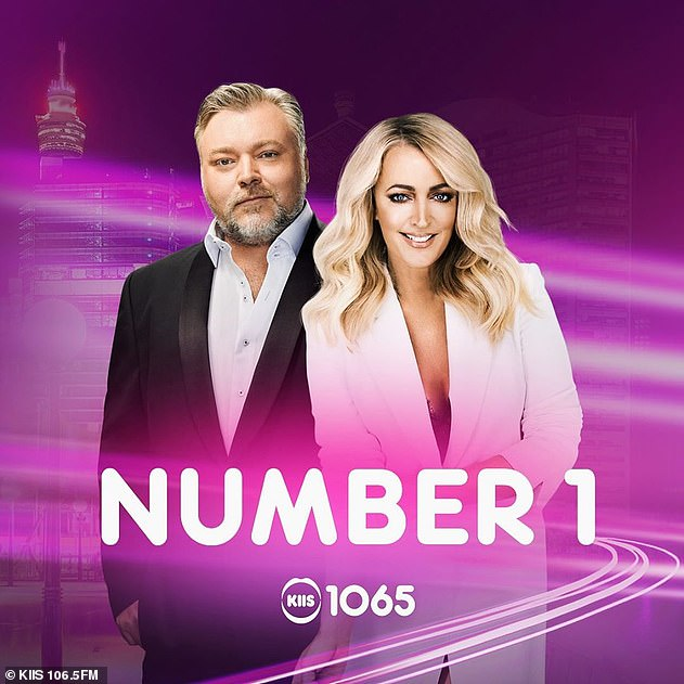 Australia's favourite duo! The long-standing radio hosts were also credited as the breakfast show with an audience share of 10.2 per cent